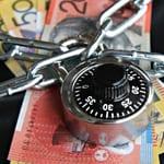 Money locked away behind combination lock