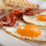 Business traveller breakfast