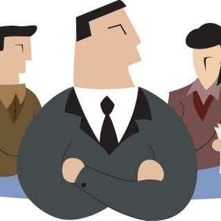 Men on a business board