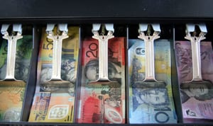 Dollar notes - Australian Cash In a Till Drawer - Economy