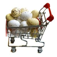 Trolley full of easter eggs