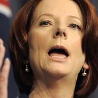 Julia Gillard making speech