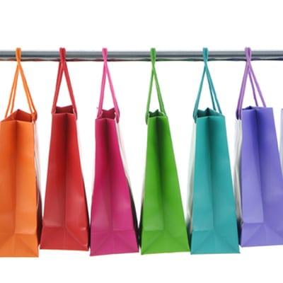 colourful retail shopping bags