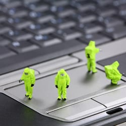 Little men recovering the data from a computer
