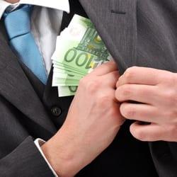Businessman takes a bribe