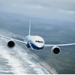 Boeing_787 in flight