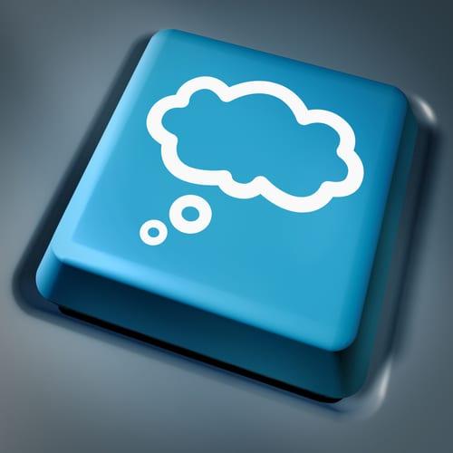 cloud computing button on keyboard