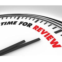 Clock counting down to review
