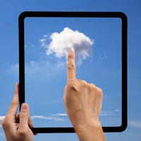 Using the cloud on a tablet