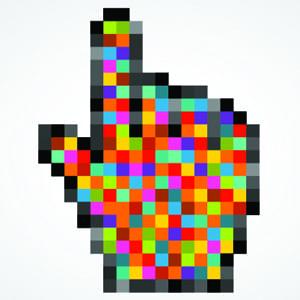 Colourful mouse cursor