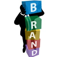 Man building a brand