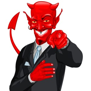 devilish businessman