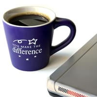 """Mug with """"You Make a Difference"""" printed on it"""