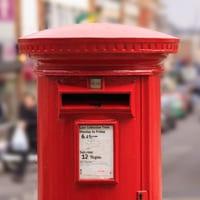 Traditional English postbox