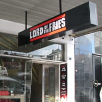 Lord of the Fries store, Melbourne