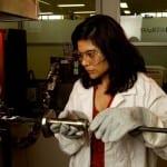 Prof Veena Sahajwalla with High Temperature Furnace