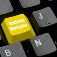 business marketing key on keyboard