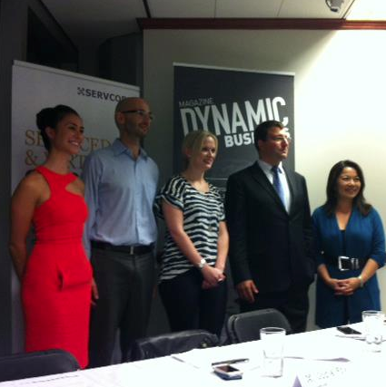 Jodie Fox, Cenk Baba, Jen Bishop, Marcus Moufarrige and Valerie Khoo at social media event