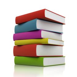 Stack of multi-coloured books