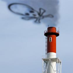 Chimney spewing out toxic smoke