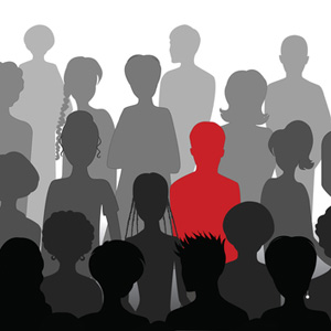Crowd of silhouttes