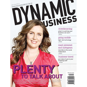 Cover of the May issue of Dynamic Business