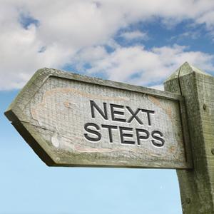 """Next steps"" signpost"