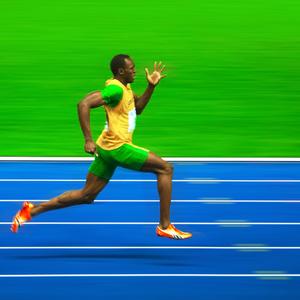 Olympic athlete running