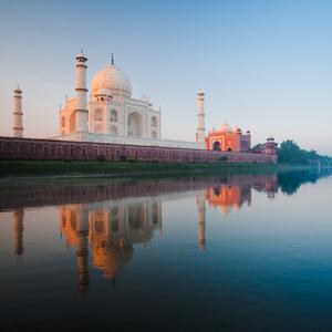 Taj Mahal, at sunrise