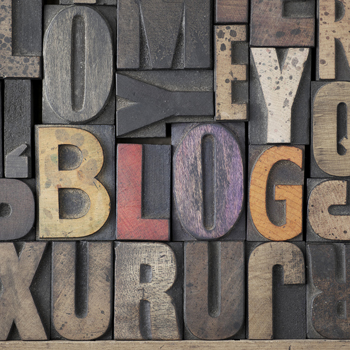 """""""Blog"""" written in letterpress"""