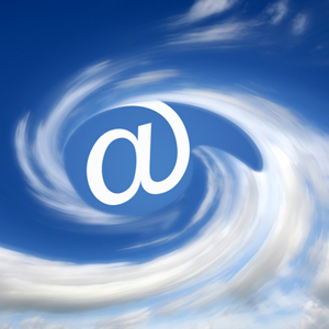 Email '@' symbol in clouds