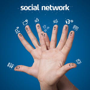 Social networking engagement graphic