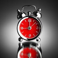 Little red alarm clock