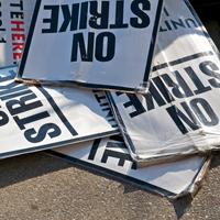 On strike signs