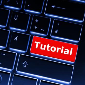 eLearning - 'tutorial' button on keyboard
