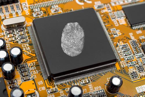thumb print on memory board