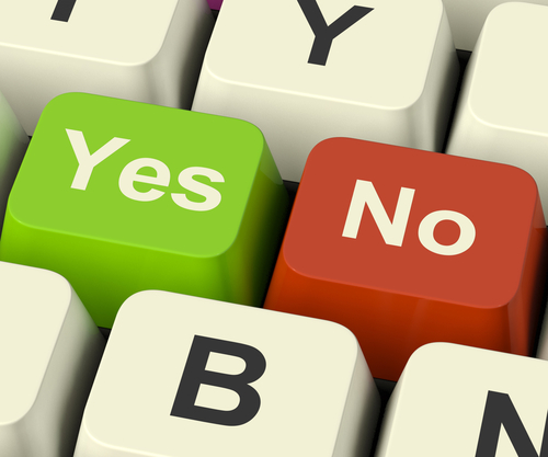 yes/no on a keyboard
