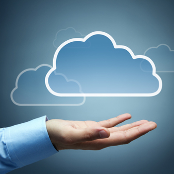 Man with cloud floating over his hand