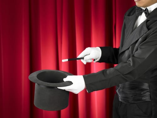 magician with hat and wand