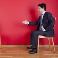 Man doing a deal via negotiation