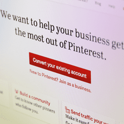 Pinterest business pages announced on Pinterest blog