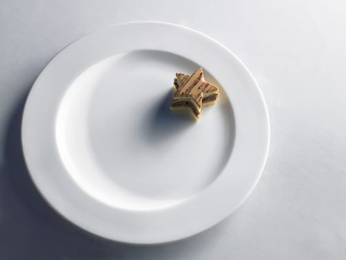 petit four alone on plate