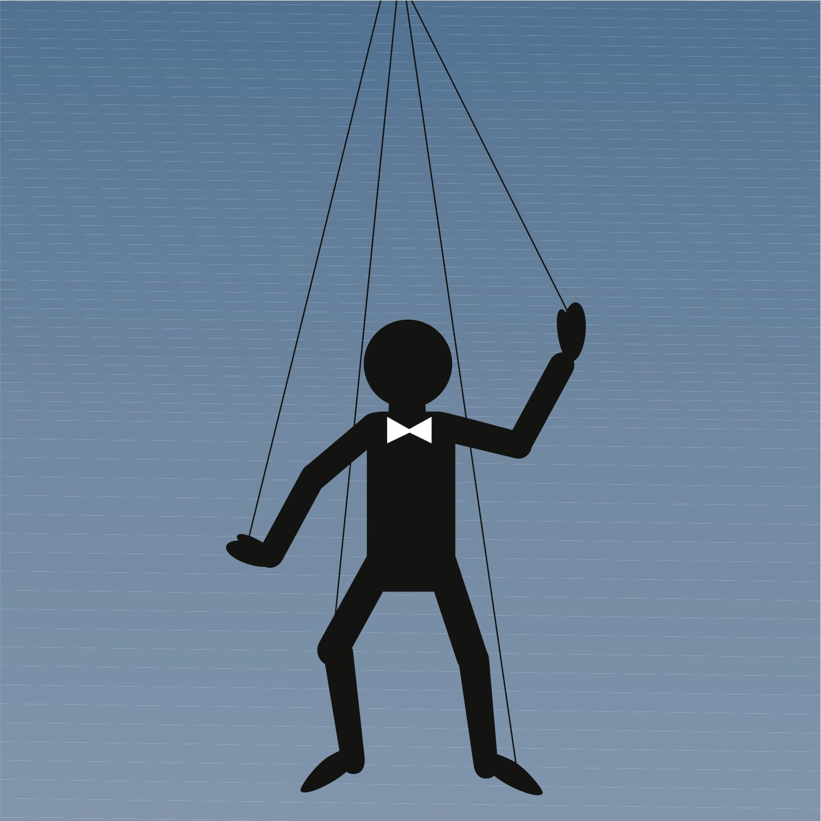 stick figure on strings