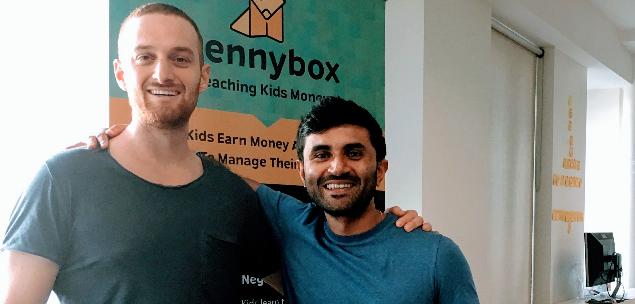 Pennybox founders Adam Naor and Reji Eapen