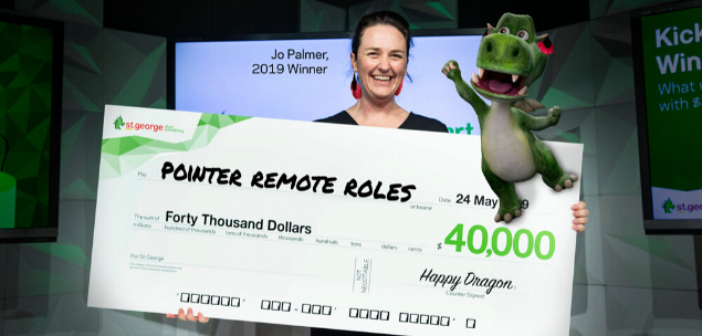 Jo Palmer, founder of business Pointer Remote Roles and the 2019 St.George Kick Start Program 'fast pitch' winner.