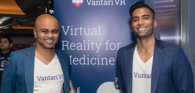 Co-CEOs of Vantari VR - Dr Nishanth Krishnananthan (right) and Dr Vijay Paul (left) - on raising capital