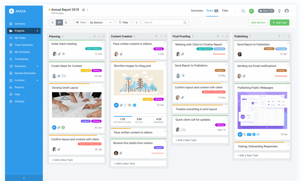 Project Management, Timesheets & Invoices - AVaza
