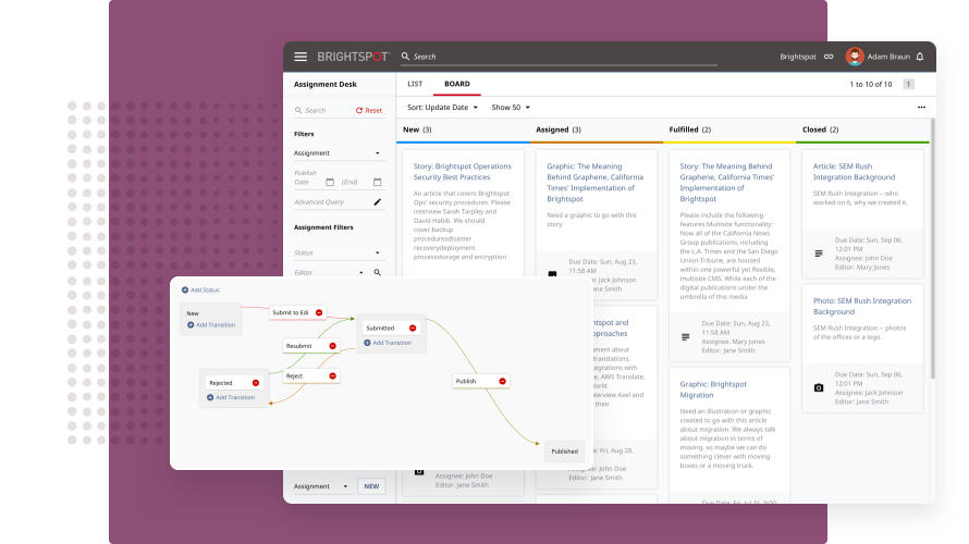 CMS, Content and Project Management SOftware - Brightspot