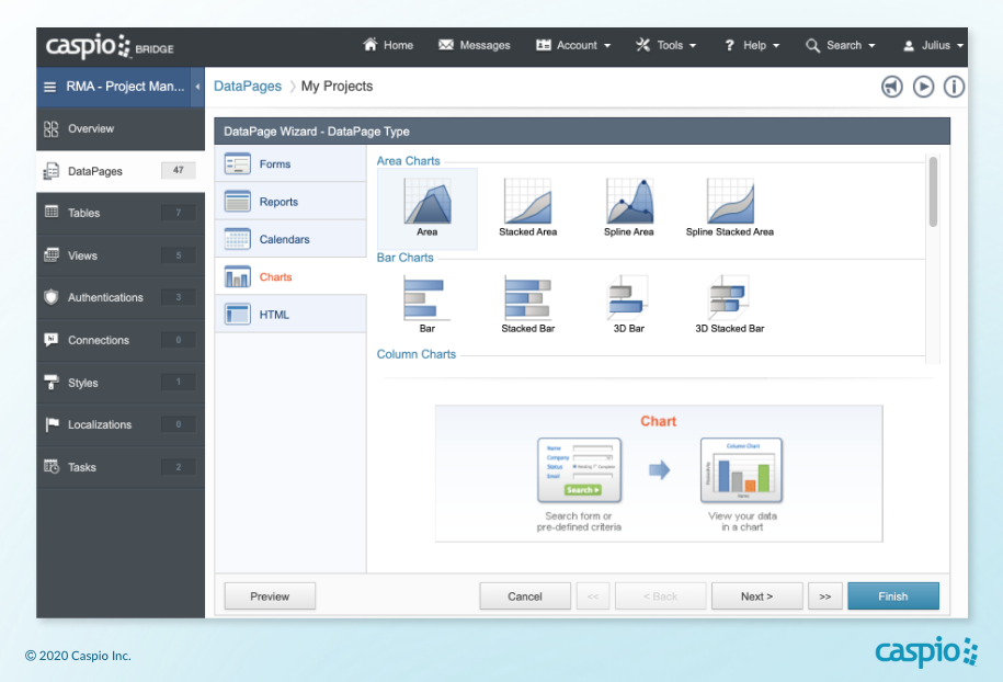 Simple project management software - Caspio