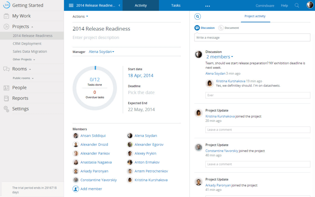 Online Project Management Software - Comindware